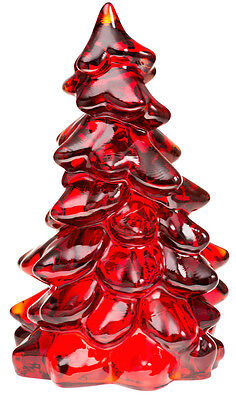 Christmas Holiday Tree - Red Glass - Mosser USA - Medium 5 1/2""