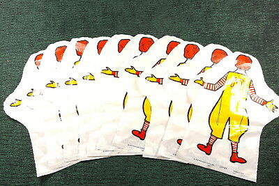 *Vintage* 1976 Ronald McDonald - Plastic Hand Puppets ~ (lot of 10) New