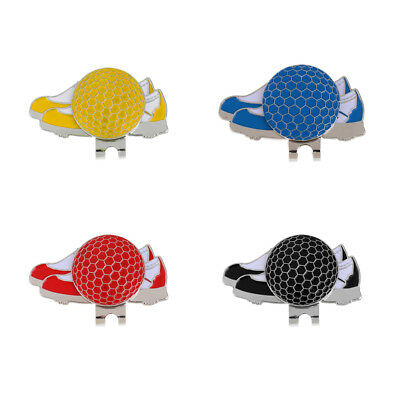 Funny Shoe Pattern Golf Hat Clip with Magnetic Ball Marker Golf Gift, 4 Colors