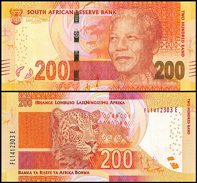 South Africa 200 Rand, 2013, P-142, UNC