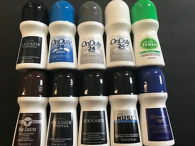 *Lot of 10*  Avon Men's Roll-On Deodorant Mixed Lot *FRESH* ANY MIX YOU WANT