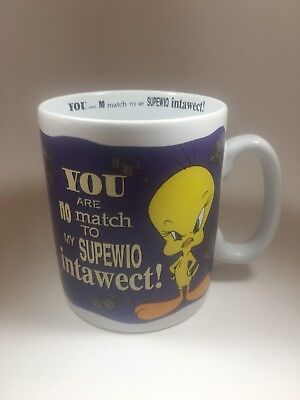 Vintage 1997 Tweety Bird Large Coffee Mug Cup Warner Bros