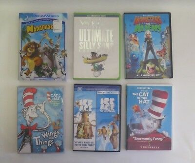 Lot of 6 Kids Children Family DVD Videos Movies