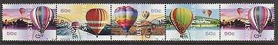 2008 Australian Decimal Stamps  Up Up & Away Balloons - CTO Strip of 5