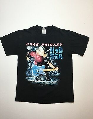 BRAD PAISLEY H2O World Tour 2-Sided Country Music 2010 Concert T-Shirt Medium