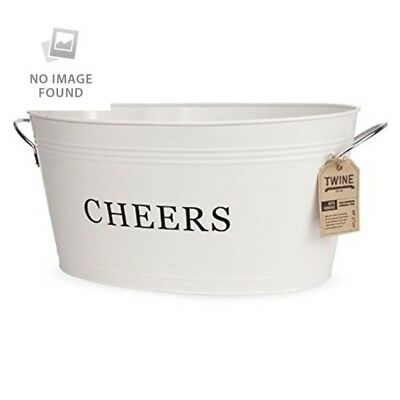 Rustic Farmhouse Cheers Drink Tub by Twine – Large Galvanized Metal Drink Tub