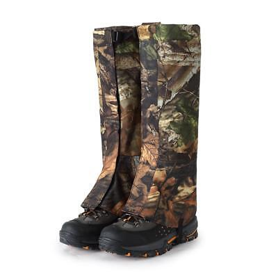 2pcs XL Outdoor Hiking Hunting Snow Waterproof Boots Cover Legging Gaiters