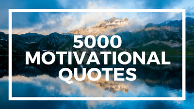 5000 Inspirational and Motivational Image Quotes PLR Private Label Rights