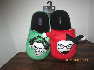 3d2581eb2f212a THE JOKER AND HARLEY QUINN Slippers. Brand New.DC Comics Adult Medium 9-
