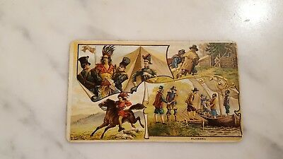 Victorian Trading Card Arbuckle Bros State Facts Alabama