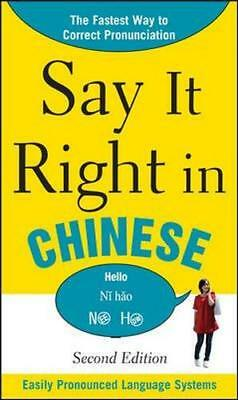 NEW Say it Right in Chinese By EPLS Paperback Free Shipping