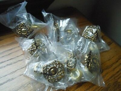 8 Vintage Old Stock Brass French Style Ornate Knobs Drawer Pulls Handles