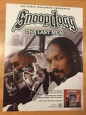 """Rare SNOOP DOGG Tha Last Meal Promo 18"""" x 24"""" Poster NO LIMIT Master P DR. DRE"""