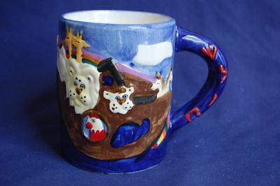 Noah's Ark Handmade / Painted Ceramic Coffee Mug by Emanuel Israel