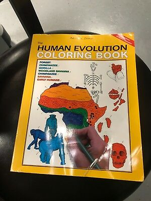 THE HUMAN EVOLUTION Coloring Book by Adrienne Zihlman ...