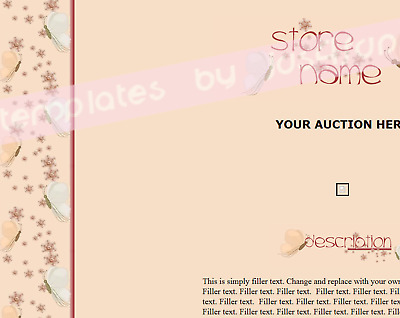 Butterfly Flowers eBay Auction Template Store Template Listing Template