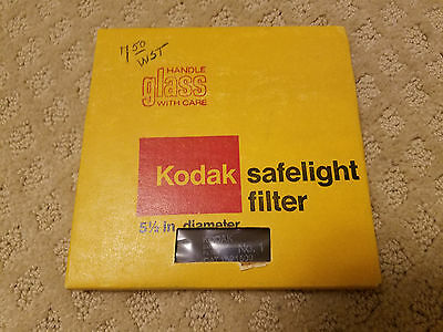 "Vintage Eastman Kodak Glass Safelight Filter 5 1/2"" 14 cm CAT 1521509 New in Box"