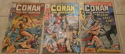 Marvel Conan the Barbarian 1 2 3 lot