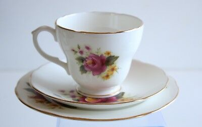 Duchess Bone China Tea Trio Made In England 40s-50s Vintage
