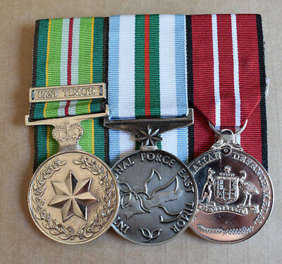 Group Of 3 Mounted Australian East Timor Medals