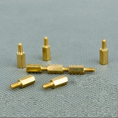 Metric 3mm Male-Female Hex Head Brass Standoff Spacer Riser  PC Case CCTV Screws
