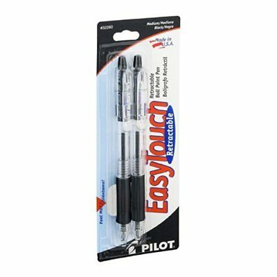 Pilot 32260 Black Easy Touch�� Retractable Ball Point Pen 2 Count