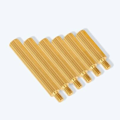 Metric 2mm Male-Female Knurled Brass Standoff Spacer Riser  PC Case CCTV Screws