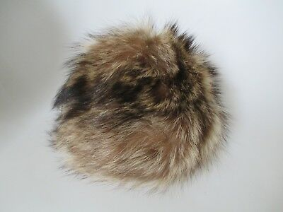 Vintage Marshall Field & Company Brown Fur Millinery Women's Hat Size S/M