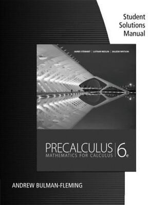 Study guide for stewartredlinwatsons precalculus mathematics for student solutions manual for stewartredlinwatsons precalculus mathematics fo fandeluxe Image collections