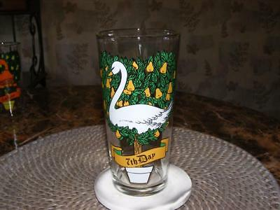 Vtg 1970's 7th Day - 12 Days of Christmas Pepsi Collection Glass NEW Unused