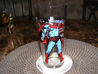 Vintage 1975 Superman Super Hero Pepsi Series Glass DC Comics NEW Unused