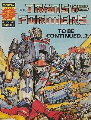 The Transformers #81 Marvel UK (1986) British Weekly Comic