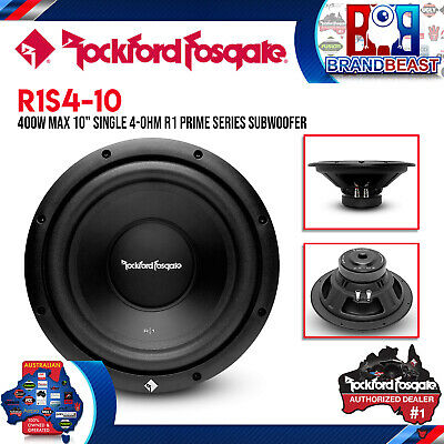 "Rockford Fosgate R1s4-10 Prime Series 10"" 4 Ohm Subwoofer New R1s410"