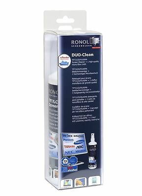 """RONOL """"DUO CLEAN""""  250ml TFT LCD PLASMA Monitor Screen Cleaner Reiniger + 1 V..."""