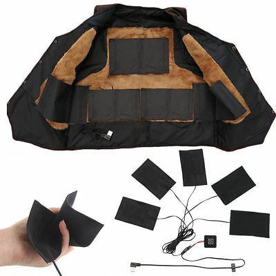 Heated Jacket Outdoor Mobile Warming Gear 5 Pad Electric Heating Thermal Clothes