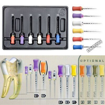 Dental Universal NiTi Root Canal Shaping Files Hand Use 21MM 25MM 31MM SX-F5