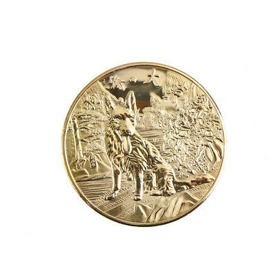 year of the dog golden chinese zodiac 2018 anniversary coin souvenir coin Pip .