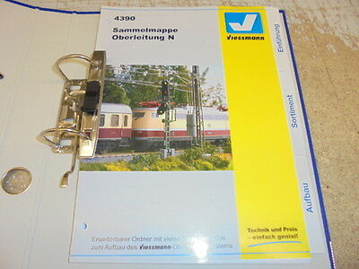 Viessmann 4390 N Gauge Magazine Binder Overhead Line # NEW ORIGINAL PACKAGING #
