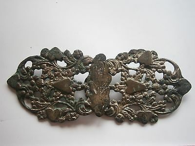 Antique Balkan Serbia Folk Art Pafta,National ethnic Belt Buckle 18-19th century