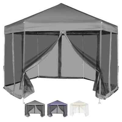 vidaXL Carpa Hexagonal Desplegable 6 Paredes Laterales Diferentes Colores