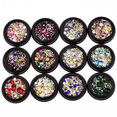 New Nail Art Colors Tip Drill Crystal Stones Rhinestone Beauty Decoration DIY