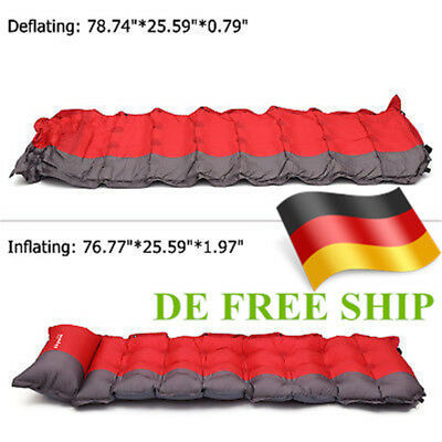 Outdoor Inflatable Cushion Sleeping Mat Camping Airbed & outdoors Mattress Pad