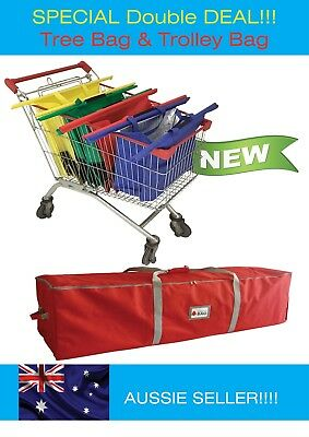 Christmas TREE STORAGE BAG & RECYCLE SHOPPING trolley Bags * DISCOUNT DEAL