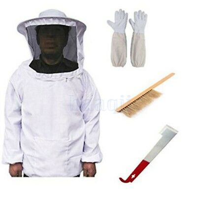 Beekeeping Veil Suit Smock, Hive Frame Holder, Gants, Bee Brush Tool Equip BA