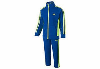 Adidas Boys's Tracksuit Sweat Suit Activewear 2 Piece Set, Bright Blue