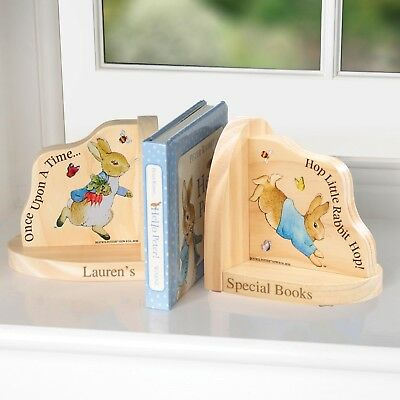 PERSONALISED Beatrix Potter Peter Rabbit Book Ends : Add Message, New baby Gift