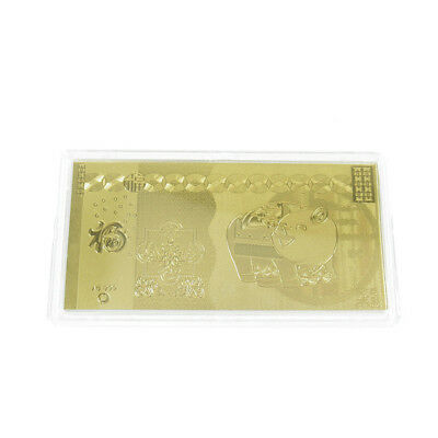 2019 Year Of The Pig Gold Foil Brick for Collection Gifts Present