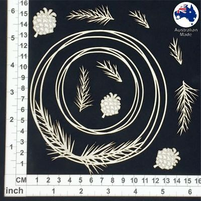 Chipboard Embellishments for Scrapbooking, - String Circles Pine 85172