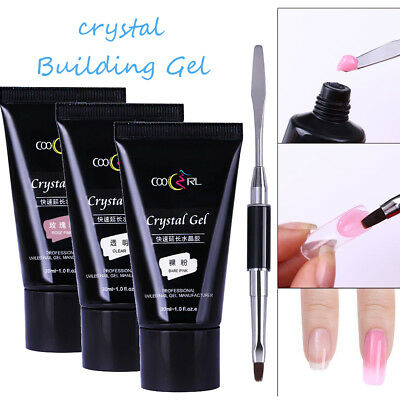 30ml Poly UV Gel de Construction Ongle Extension Camouflage Pinceau Nail Art Kit