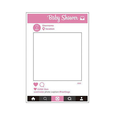 Large Size Baby Shower Party Props Photo Booth Selfie Frame Children DIY Fun x 1